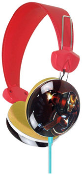 Marvel Avengers Iron Man Earcup Stereo Headphones w/3.5mm Jack