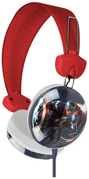 Marvel Avengers Captain America Earcup Stereo Headphones w/3.5mm Jack