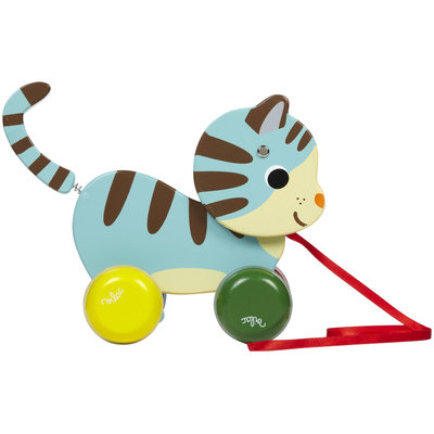 Vilac Marcel The Cat Pull Toy By Melusine