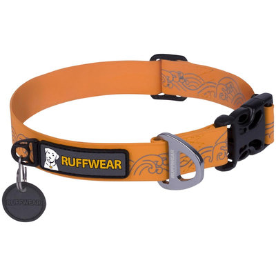 Ruffwear Headwater Dog Collar Orange Sunset, M