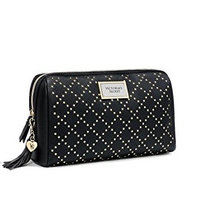 Victoria's Secret Black Studded Beauty Cosmetic Bag