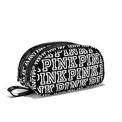 Victoria's Secret Pink Black And White Cosmetic Bag