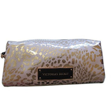 Victoria's Secret Leopard Print Gold And White Cosmetic Case