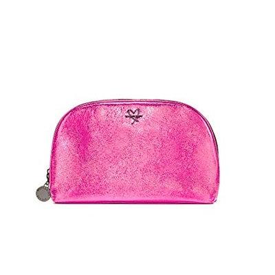 Victoria's Secret Metallic Pink Double Zipper Cosmetic Bag