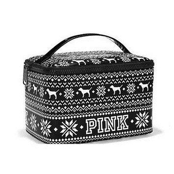 Victoria's Secret Pink Black And White Makeup Travel Case