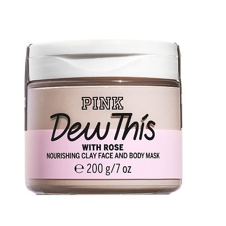 Victoria's Secret Pink Dew This With Rose Clay Face And Body Mask