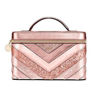 Victoria's Secret Pink Sparkle V Quilt Shimmer Train Case