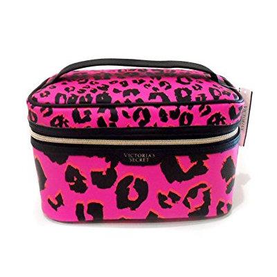 Victoria's Secret Pink Leopard Train Cosmetic Bag