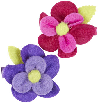 Lily & Momo BECCAFlower Hair Clip - Pink/Purple