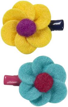 Lily & Momo Little Flower Hair Clip - Aqua/Yellow - 1 ct.