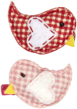 Lily & Momo Love Birds Hair Clip - Pink/Red - 1 ct.