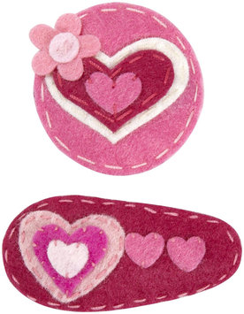 Lily & Momo Hugs and Kisses Hair Clip - Pink/Red - 1 ct.