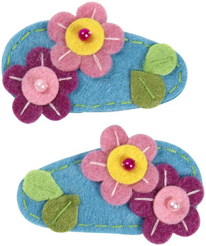 Lily & Momo Garden Hair Clip - Pink/Aqua - 1 ct.