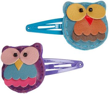 Lily & Momo Tree Owl Hair Clip - Aqua and Purple - 1 ct.