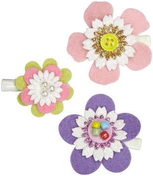 Lily & Momo Pastel Flower Trio Hair Clip - Multicolor - 1 ct.