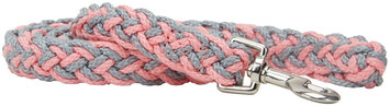 Kiss My Mutt Two-Toned Braided Leash - Pink Dhalia