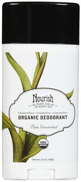 Nourish Organic Body Deodorant, Pure Uncscented, 2.2oz