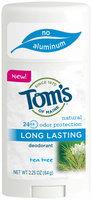 Tom's of Maine 24-Hour Natural Long Lasting Natural Deodorant - Tea Tree - 2.25 oz