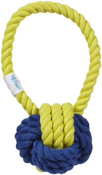 Waggo Have a Ball Rope Toy - Midnight & Yellow
