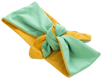 Peppercorn Kids Two-Tone Stretch Bow Headband-Yellow/Green - 1 ct.