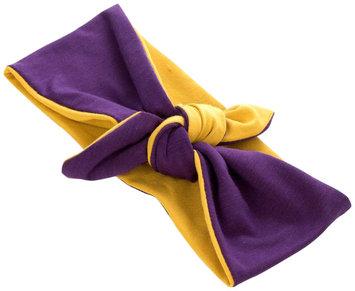 Peppercorn Kids Two-Tone Stretch Bow Headband-Yellow/Purple - 1 ct.
