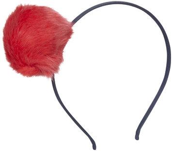 Peppercorn Kids Fur Pom Pom Headband - Scarlet Red