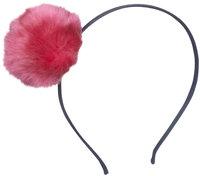 Peppercorn Kids Fur Pom Pom Headband - Hot Pink