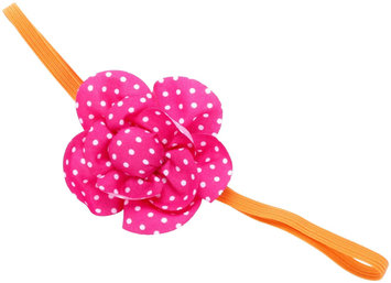 Peppercorn Kids Polka Dot Flower Stretch Headband - Pink - 1 ct.