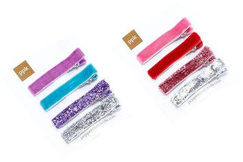 Peppercorn Kids Velvet & Glitter Hair Clip Set - 1 ct.