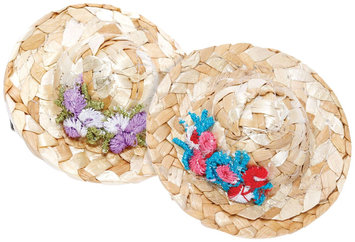 Peppercorn Kids Mini Straw Hat Hair Clip Set - 1 ct.