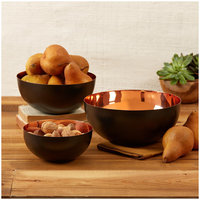 Two's Company Copper Tones Bowls Set of 3