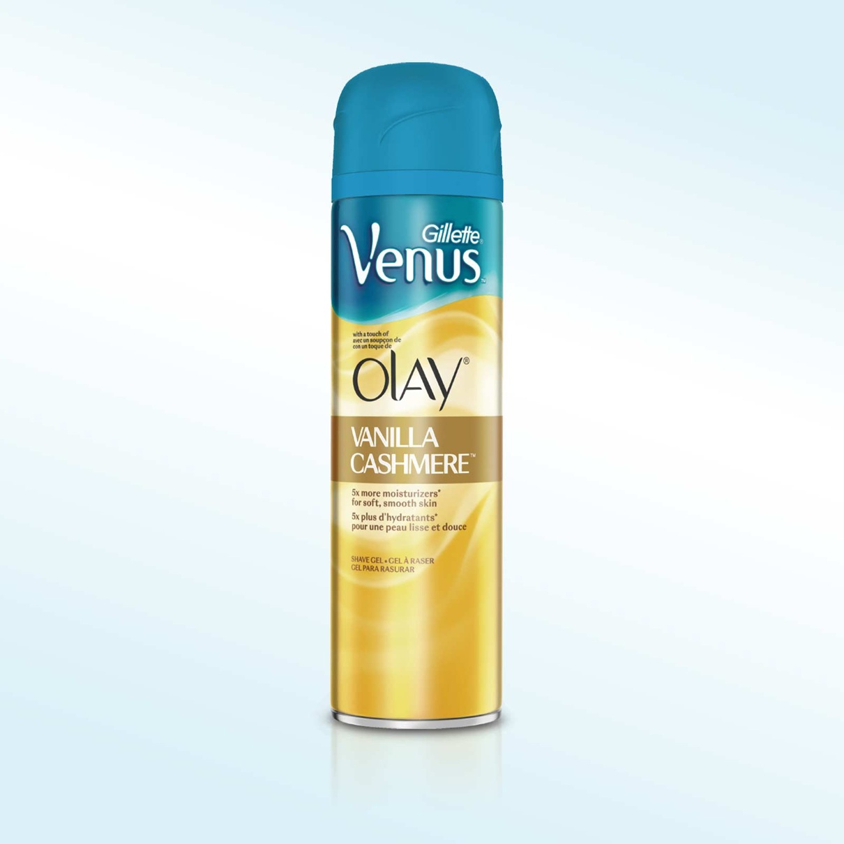 Gillette Venus® with a touch of Olay® Vanilla Cashmere™ Shave Gel