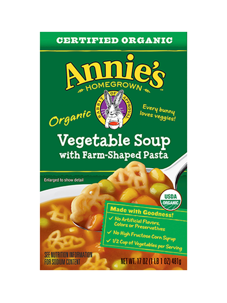Annie's® Organic Vegetable Soup with Farm-Shaped Pasta