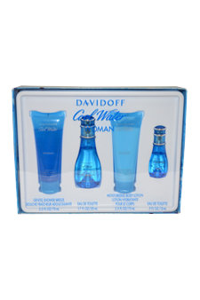 Davidoff Cool Water Woman Fragrance Gift Set, 4 pc