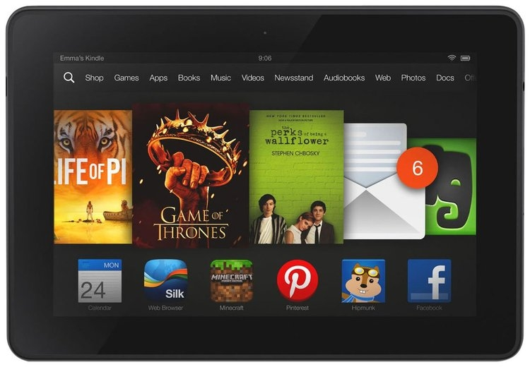 """Review for Kindle Fire HDX 7"""", 16GB - Includes Special Offers - 1 ct. by Katherine R."""