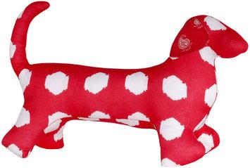 Masala Baby Buddy Dog Kolam Ikat Dots Red