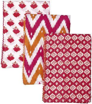 Masala Kamal Floral Swaddle Set - Pink/Orange - 1 ct.