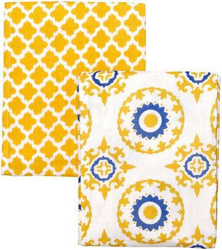 Masala Swaddle Wraps - 2pk set- Jali Ikat Yellow