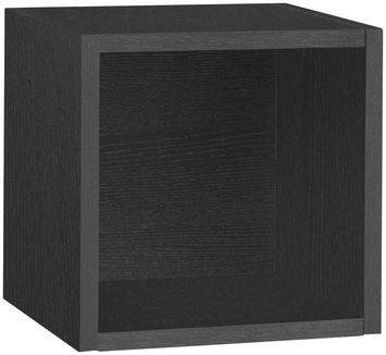 Way Basics zBoard Eco Wall Cube Shelf- Black