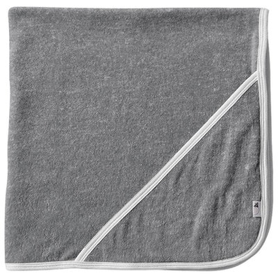 Burt's Bees Baby 2 Ply Hooded Striped Towel - Heather Grey - 1 ct.