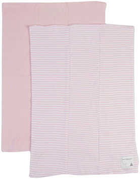 Burt's Bees Baby 2 Pack Striped Burp Cloths (Baby) - Blossom