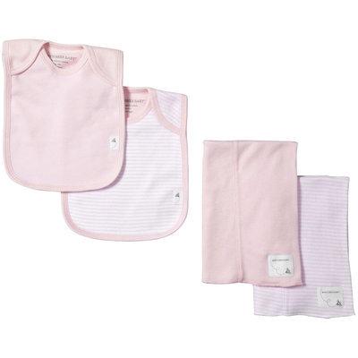 Burt's Bees Baby 4 Piece Bibs & Burp Cloths Set (Baby) - Blossom