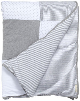 Burt's Bees Baby Dottie Bee Quilt- Heather Gray