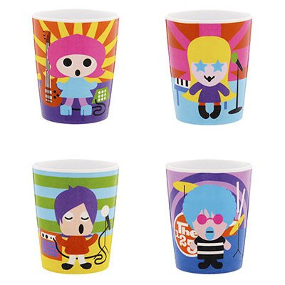 French Bull Assorted Rock Stars Juice Cup (Set of 4)