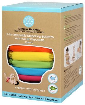 Charlie Banana 6 Reusable Diapers + 12 Inserts Set - Tutti Frutti