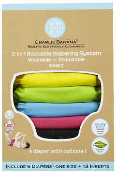 Winc Design Charlie Banana One Size Diapers Value Pack - Tutti Frutti