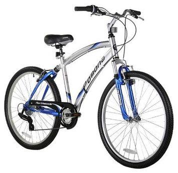 Northwoods Pomona Men's Cruiser Bike, Silver/Blue - 26