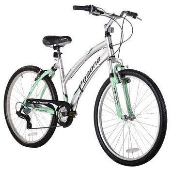 Northwoods Pomona Women's Cruiser Bike, Silver/Green - 26