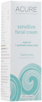 Acure Organics - Sensitive Facial Cream Argan Oil + Probiotic Unscented - 1.75 oz.