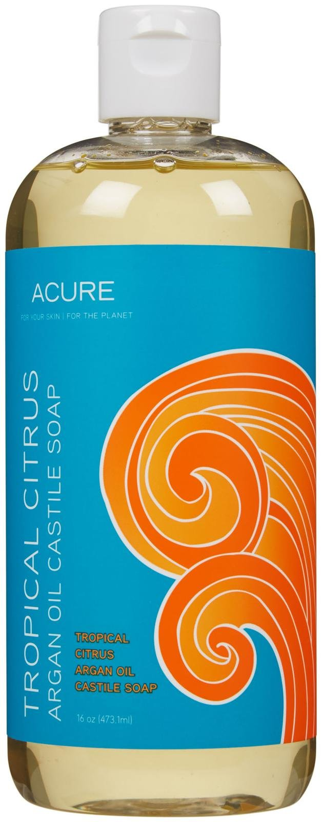 Acure Organics Argan Oil Castile Soap Tropical Citrus - 16 fl oz - Vegan